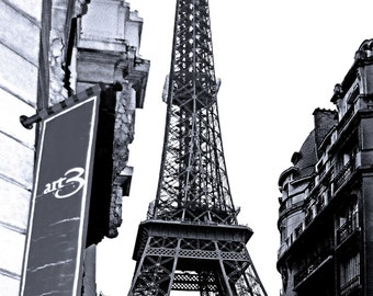 Fine Art Photograph of the Eiffel Tower in Black and White.  Part of my French Connection Series