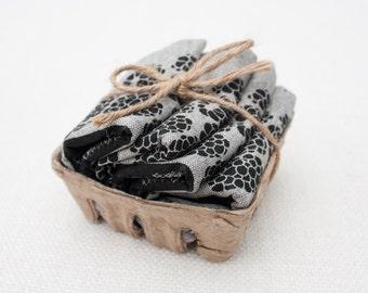 Set of Four Blackberry Recycled Hemp & Organic Cotton Napkins