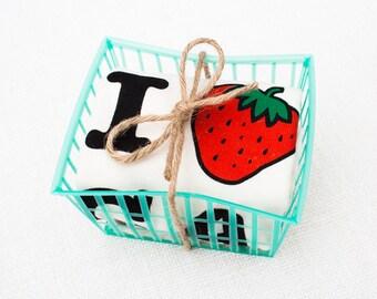 I Strawberry California Organic Baby Onesie