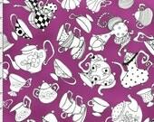 Tea Party Purple Fabric Yard by Loralie