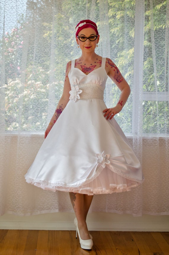 1950s 39 Juliet 39 Rockabilly Wedding Dress Organza