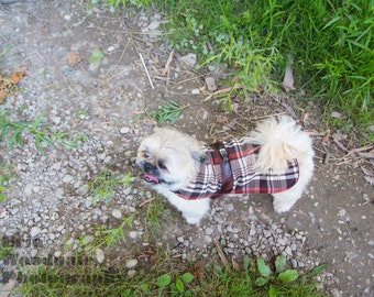 Brown Plaid with Buckle Fall Jacket