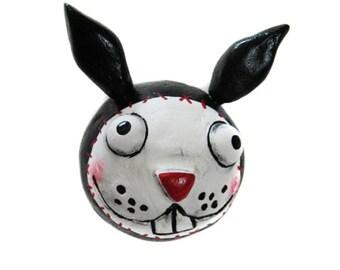 Halloween Magnet - Spooky bunnyt Magnet - Halloween Decor - Goth bunny