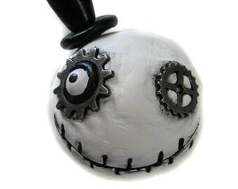 Steampunk Magnet - Halloween Magnet - Goth Magnet