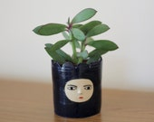 Blue Fort - Ceramic planter - one of a kind