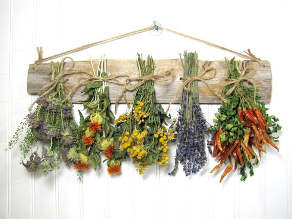Https Www Etsy Com Listing 160243972 Dried Herb Rack Dried Floral Arrangement
