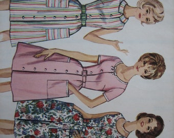 Simplicity Pattern 5445 Misses' One-Piece Dress in Half-Sizes   1964