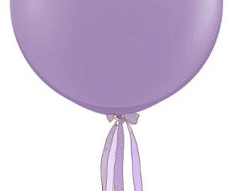 3 Foot Designer Balloon Lavender w/Tassel