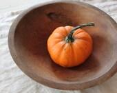 Vintage Wood Bowl - Primitive