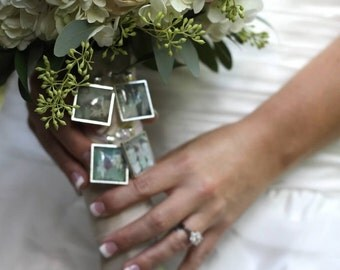 4  Wedding Bouquet charm kit -Photo Pendants charms for family photo (includes everything you need including instructions)