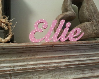 Personalised Wooden Name Sign - For Doors, Walls, Etc - Price Per Letter, various colours and finishes available