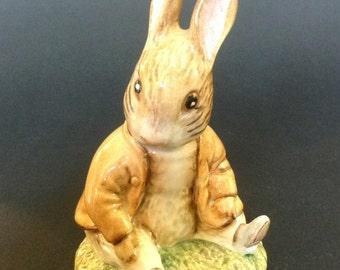 Beswick Beatrix Potter Benjamin Bunny Sat on a Bank Figurine BP3b