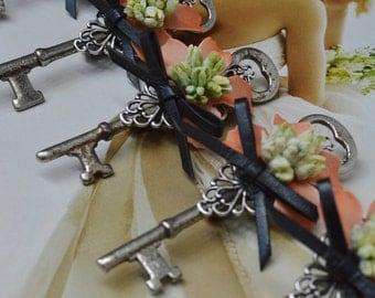 Vintage Skeleton Key Boutonniere - Made To Order