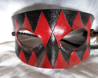Leather Mask Harlequin Domino