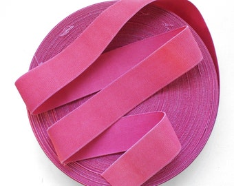 "2"" Muted Distressed Pink Stretch Elastic Band."