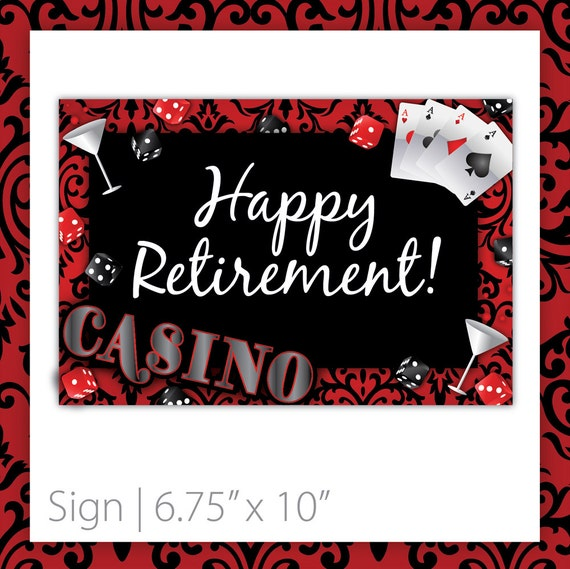 casino party sign casino blush   happy by blackcherryprintable