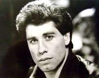 Vintage 1970's John Travolta Black & White Photo, Saturday Night Fever, Movie Star Collectible, Gift For Her, Gift For Collectors, Christmas