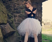 White Swan Ballet Skirt--newborn to adult--pick any color--sewn to last