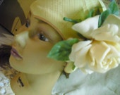 Beautiful Vintage Swim cap with detachable rose.