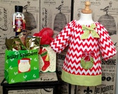 Christmas Chevron Peasant Dress - sultrysplendor