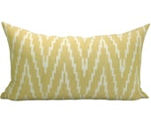 Kasari Ikat lumbar pillow cover in Pineapple