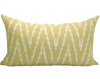 Kasari Ikat lumbar pillow cover in Pineapple