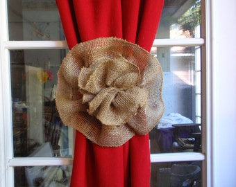 IDAHO POTATO Burlap Flower Curtain Tie Back Pew Bow Wedding Decoration Home Decor
