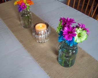 Set of 12 Wedding Burlap Table Runners - 12 Inches Wide - Choice of Length and Colors - Rustic Wedding Table Settings - Fall Wedding