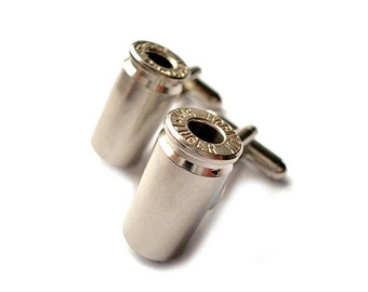 Bullet Cufflinks - Wedding Gift - Handmade - Gift Box Included