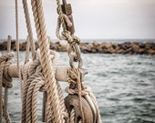 "Sailboat Photography, Sailboat Fine Art Print, Coastal Home Decor, Masculine Office Decor, Nautical Print ""Learning The Ropes"""