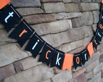 Trick or Treat Halloween Felt Bunting
