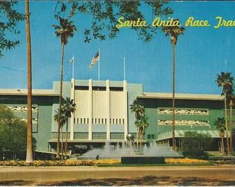 Santa Anita Race Track - Vintage Postcard
