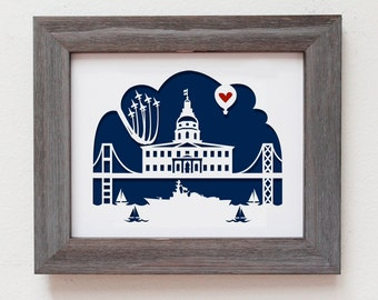 Annapolis, MD  Personalized Gift or Wedding Gift