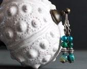 Semi precious Handmade Turquoise Jewelry Set - Earrings, Bracelet and Necklace - Oceania