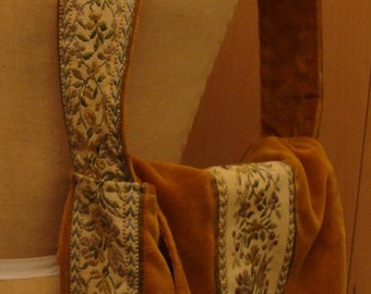 Velvet hippie bag