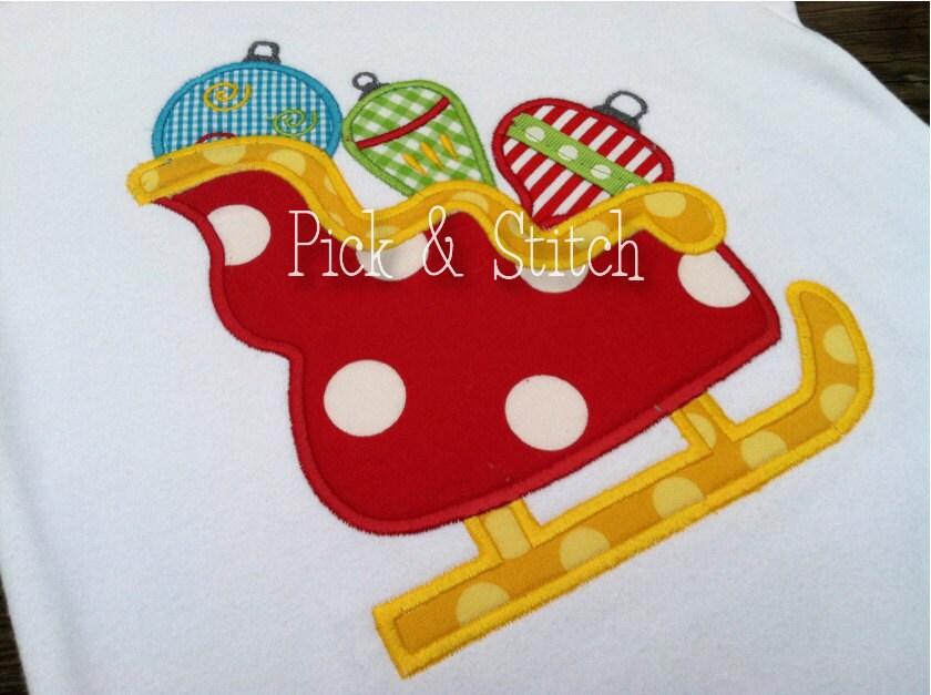 Christmas ornament applique design christmas ornament trio