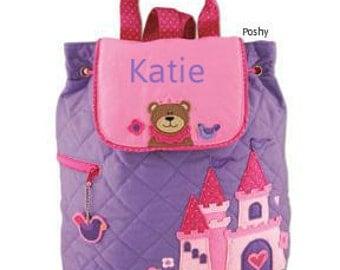 Personalized Girls Diaper Bag or Backpack Stephen Joseph Princess Bear