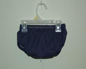 Navy Pin Dot  Diaper Cover