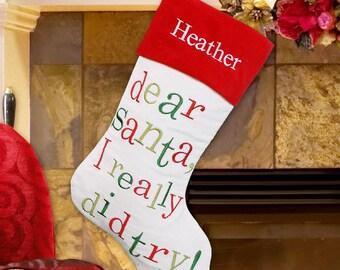 Letter to Santa Stocking -gfyS56979