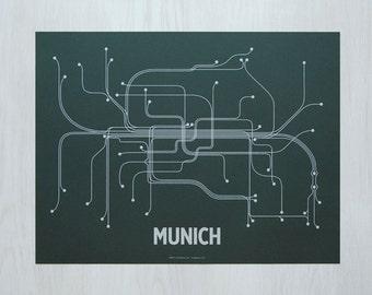 Munich Screen Print - Timber/Light Gray