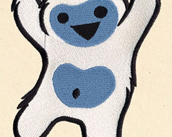 Too Cute Yeti Embroidered Flour Sack Hand/Dish Towel