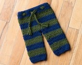 CROCHET PATTERN - Newborn Striped Pants