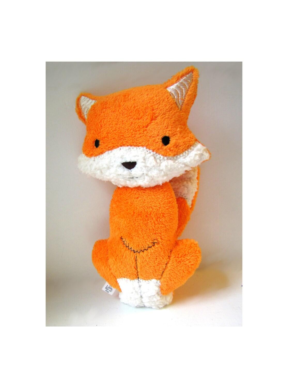 Orange Plush Fox Toy Woodland Stuffed Animal Baby Gift