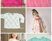Stretch lace  top  size 12 month to girls size 12  ..5 colors to choose from...Long sleeve..