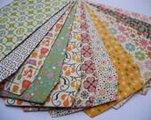 Floral & Retro Print Envelopes 12pc 65mm x 105mm