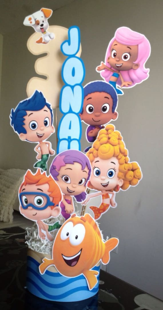 Bubble guppies centerpiece printable files by cynthiadesignsprints - Bubble guppies center pieces ...