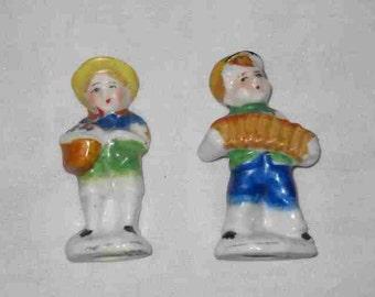 """Great Pair Vintage 2 1/2"""" OCCUPIED JAPAN Boy Figurines"""
