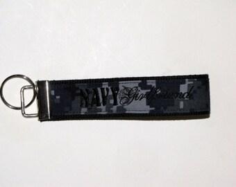 NAVY GIrlfriend Lanyard in Black / Key Chain / Key Holder / NWU