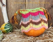 Lace Hand Knitted Girl Hat. Fun Fall Colors of High Quality Cotton Wool NORO Yarn Blend. Ready to Ship.