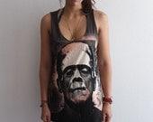 Frankenstein Monster Classic movie horror film, Fashion Punk Rock Tank Top Vest M